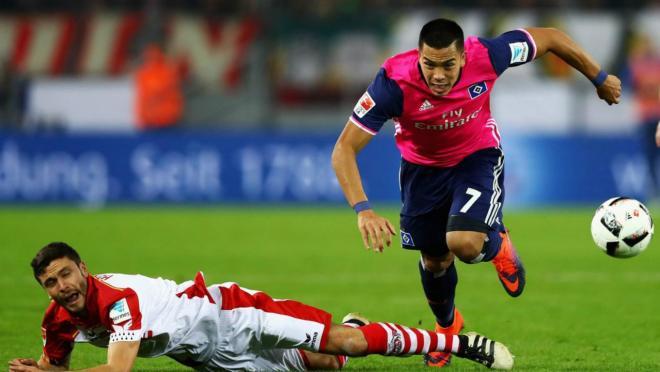 Bobby Wood scored for Hamburger SV on Saturday.