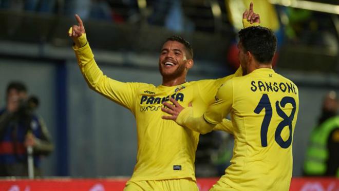 Jonathan dos Santos scored against Sporting Gijon.