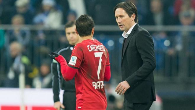 Roger Schmidt and Chicharito