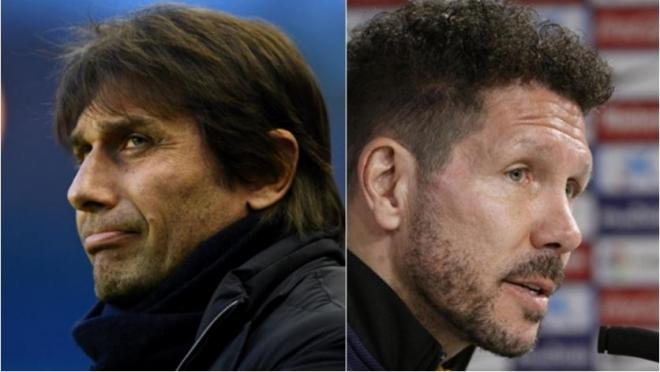 Antonio Conte and Diego Simeone