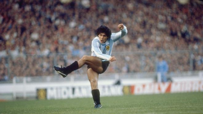 Diego Maradona in 1980