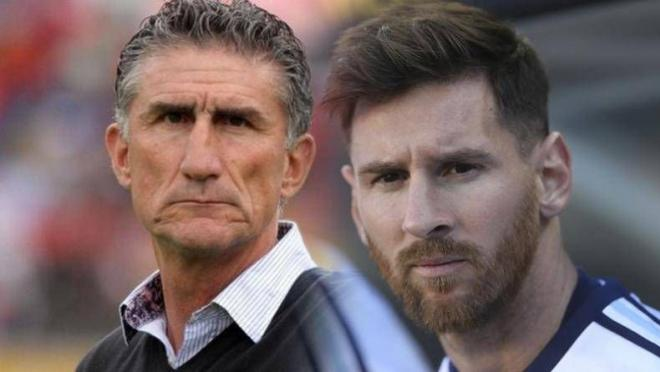 Edgardo Bauza and Lionel Messi