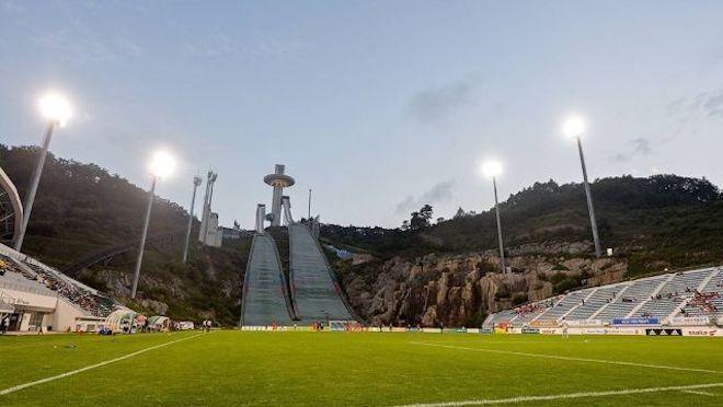 soccer stadium ski jump