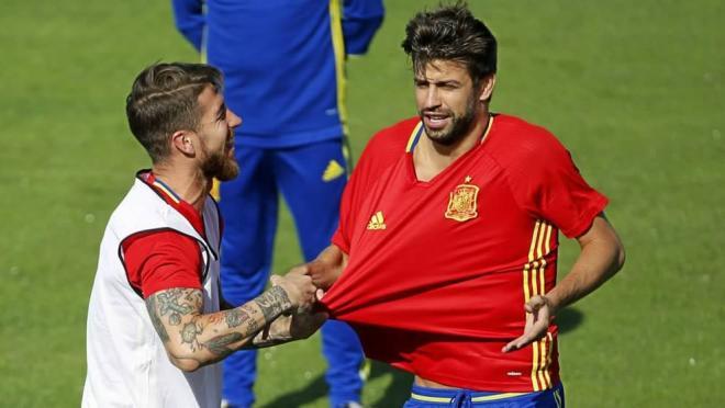 Sergio Ramos and Gerard Pique
