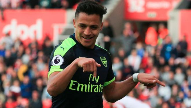 Alexis Sanchez Goal Celebration