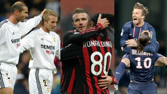 Beckham, Zidane, Ronaldinho and Ibrahimovic