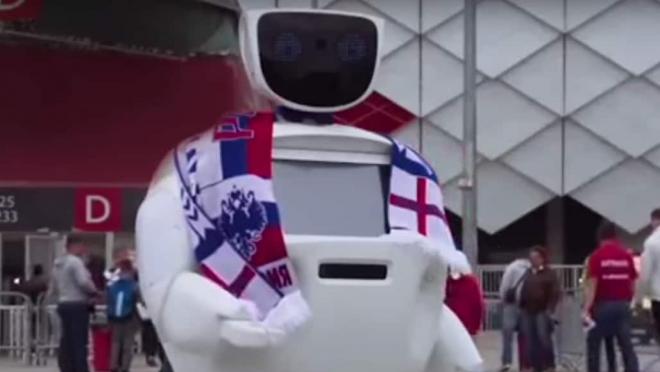 Russia hooligan robot