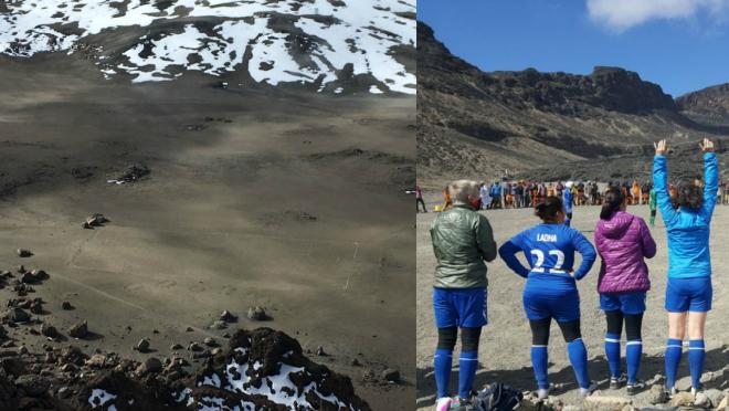 Soccer on Mount Kilimanjaro