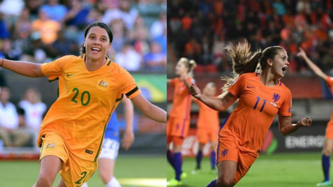 Sam Kerr and Lieke Martens