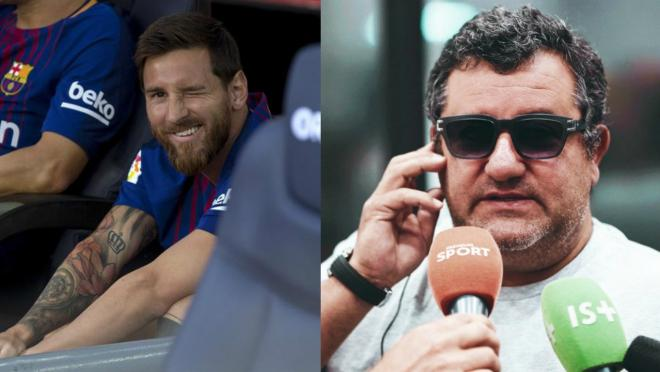 Lionel Messi and Mino Raiola