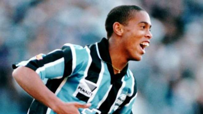 18-year-old Ronaldinho