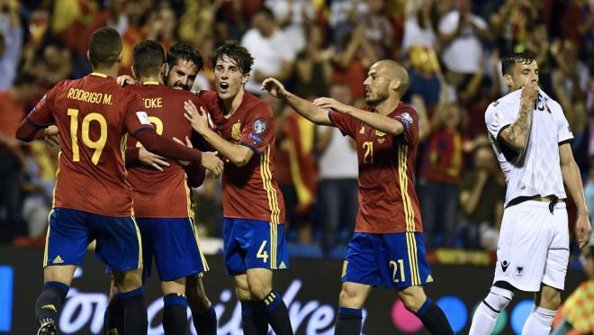 Spain team goal
