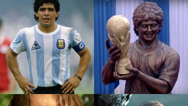 Maradona Statue