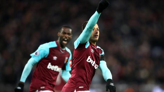 Chicharito West Ham goal vs Bournemouth