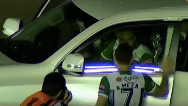Copa Libertadores car celebration