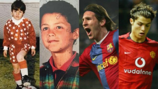Messi Ronaldo side by side comparison