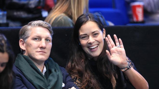 Bastian Schweinsteiger and Ana Ivanovic