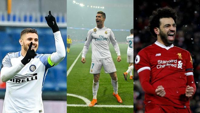 Icardi, Ronaldo and Salah