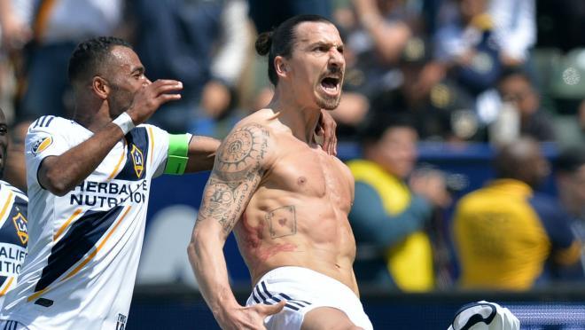 Zlatan Ibrahimovic wins the LA derby
