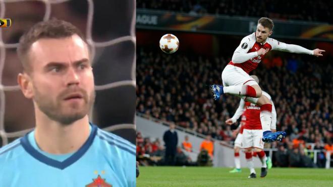 Aaron Ramsey Goal Vs CSKA Moscow