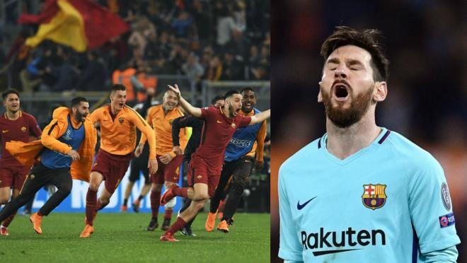 Roma upset Barcelona