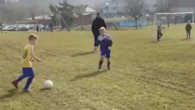 Young Lad Scores Wonder Goal
