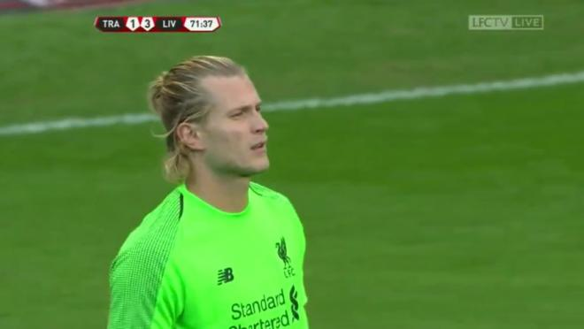 Loris Karius preseason mistake