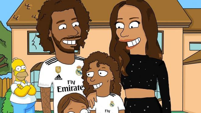 Soccer Players Drawn As Simpsons Characters