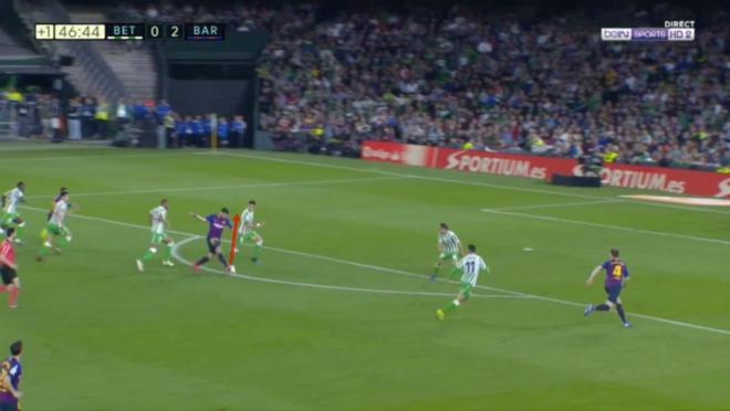 Luis Suarez assist vs Real Betis