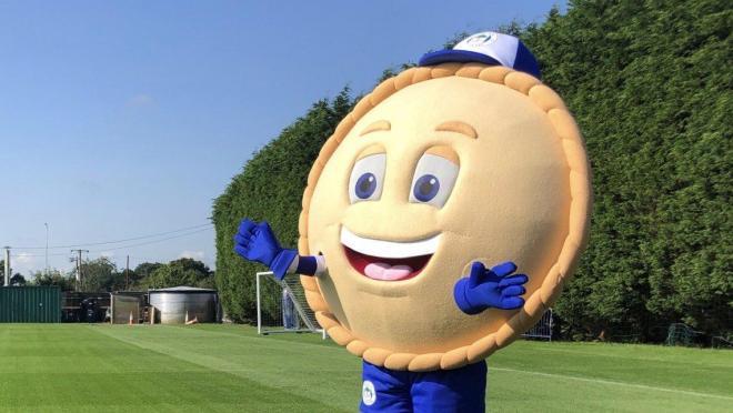 Wigan Mascot Crusty The Pie