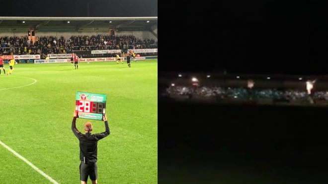 Burton floodlight failure