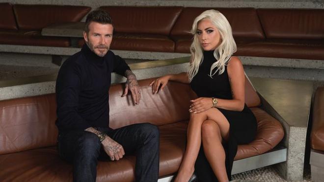 David Beckham and Lady Gaga