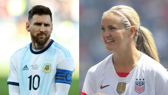 Lindsey Horan roasts Lionel Messi troll