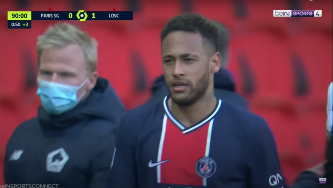 PSG vs Lille Highlights — Neymar Red Card