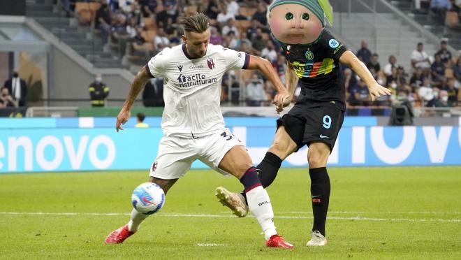 Edin Džeko Goal vs Bologna