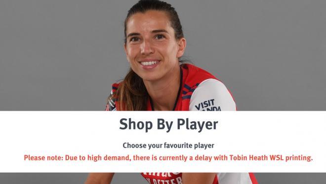 Tobin Heath Arsenal Jersey