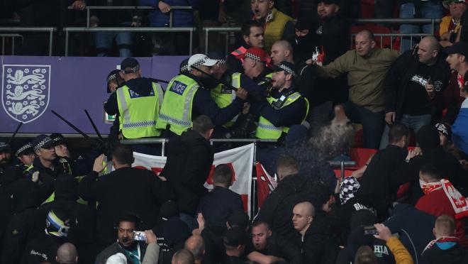 Hungary Fans At Wembley