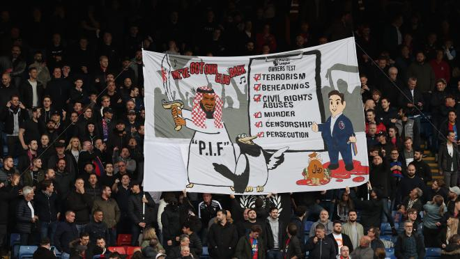 Crystal Palace Banner vs Newcastle