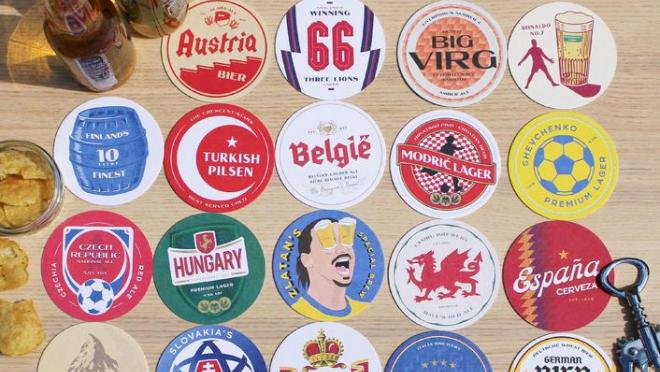 Boot and Ball beer mats