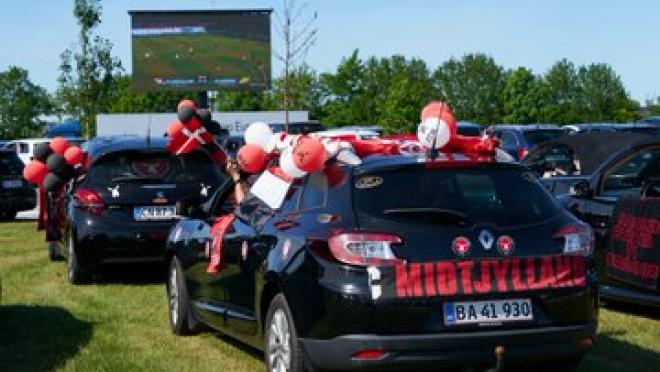 Drive-in theater for soccer