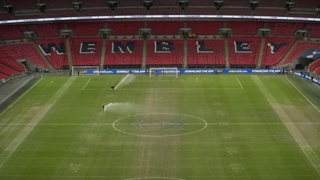 Wembley pitch after NFL