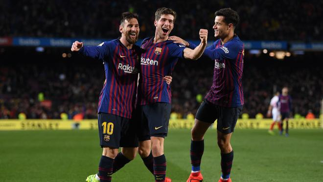Barcelona sixth goal vs Sevilla