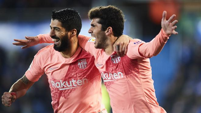 Carles Alena Barcelona Goal v Alaves