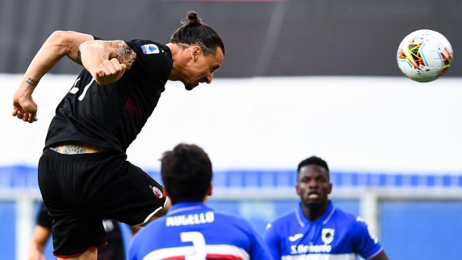 Zlatan Ibrahimovic Milan goals vs Sampdoria