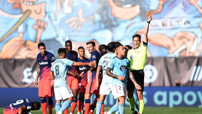 Pelea Celta vs Atlético de Madrid