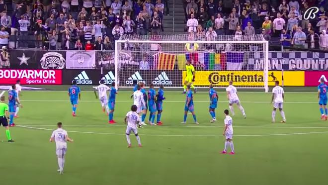Gianluca Busio free kick vs Houston