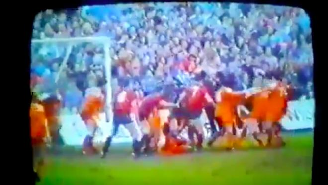 Greatest soccer goalmouth scramble