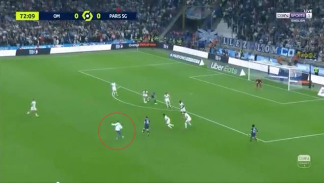 Marseille pitch invader