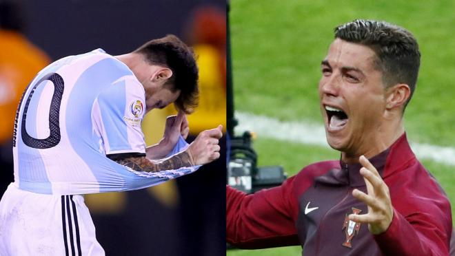 Messi endures the agony of defeat in the Copa America final; Ronaldo enjoys the thrill of victory in Euro 2016