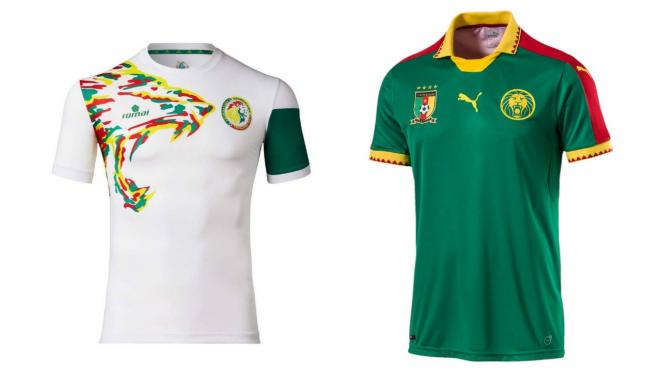 Senegal and Cameroon's kits